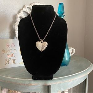 Brighton Silver Tone Heart Necklace